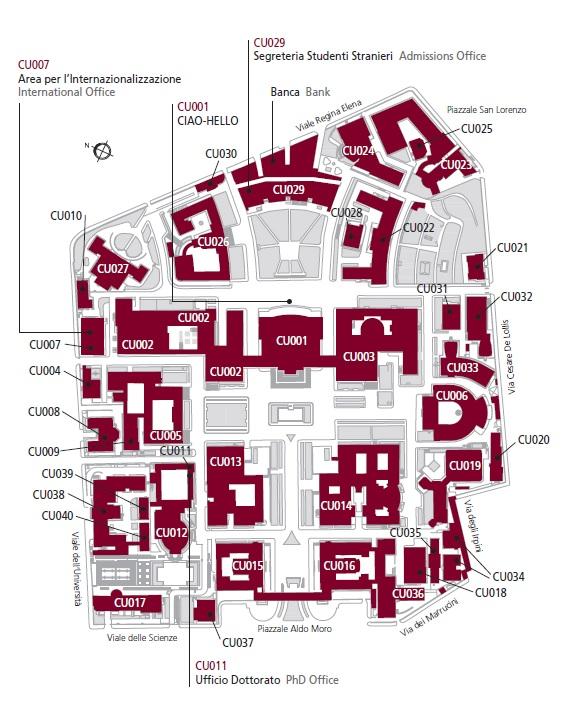 Sapienza map
